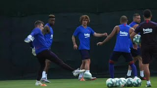 Griezmann Takes Part In Barcelona's First Preseason Training Session | AFP