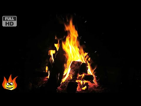 Virtual Bonfire with Crackling Fire Sounds (Full HD)