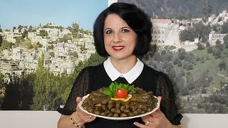 طريقة تحضير ورق عريش بزيت (ورق عنب او ورق دوالي) Vegan Stuffed Grape Leaves Recipe, Dolma