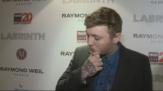 James Arthur shows off his new tattoo and talks about being mobbed by fans