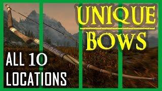 Unique Bows Collection - ALL 10 BOWS & LOCATIONS (Skyrim MOD Walkthrough)
