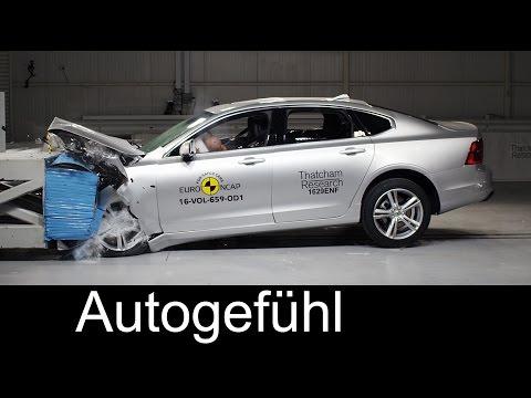 Volvo S90 crash test 5/5 stars Euro NCAP - Autogefühl