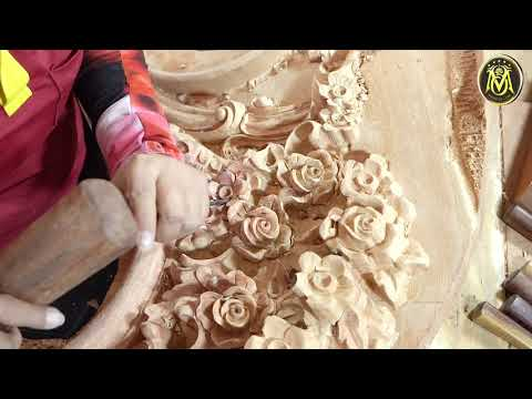 Gorgeous Hand Carved Flower Sofa