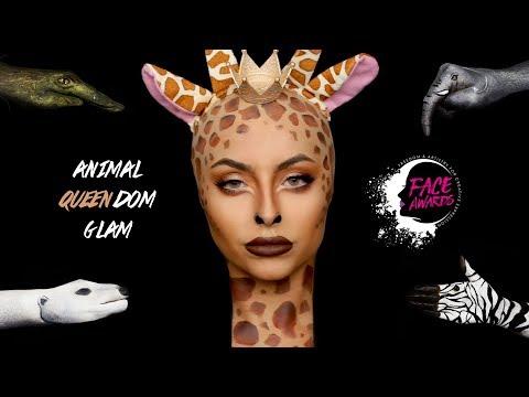 ANIMAL KINGDOM GLAM NYX FACE AWARDS UK - FULL FACE OF NYX MAKEUP