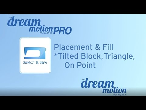 THE Dream Motion™ PRO Software: Placement & Fill: Tilted Block, Triangle, On Point