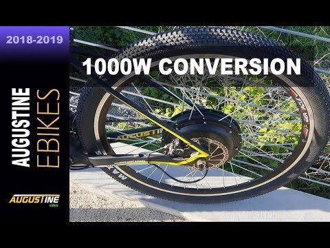Electric Bike Review. 1000 watt, rear hub e-bike motor. 40 mph.