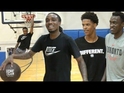 Shareef O'Neal & Quavo Vs. NBA & College Players at UCLA Run - Rico Hines