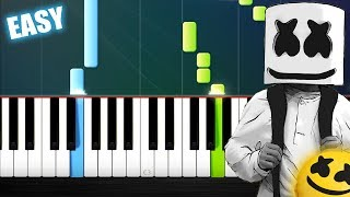 Marshmello Ft. Bastille   Happier   EASY Piano Tutorial By PlutaX