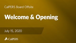 Welcome & Opening | July 15, 2020