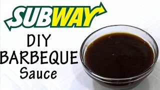 DIY Barbeque Sauce Like Subway At Home!! | Simply Yummylicious | Barbeque Sauce Using Jaggery