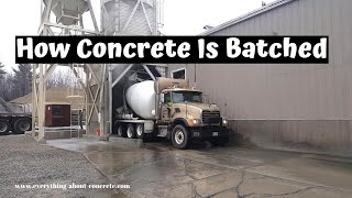 Concrete Plant - How Your Concrete Is Batched And How To Order Concrete