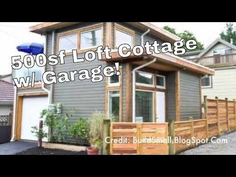 500-Square-Feet Small House with a Loft