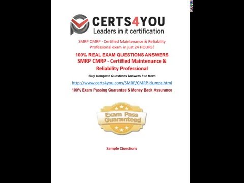 How to pass CMRP exam in first attempt? - YouTube