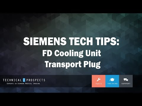FD Cooling Unit Transport Plug