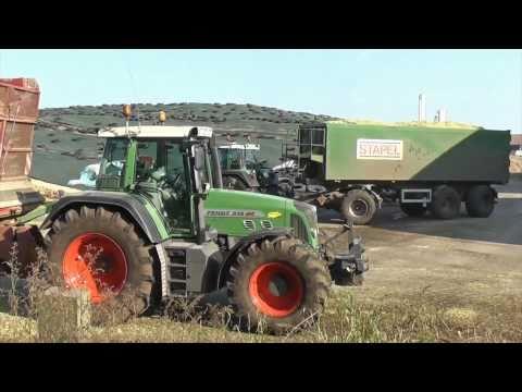 Schlepper vs. Moor - Lohnunternehmen Henke häckselt Mais für BGA