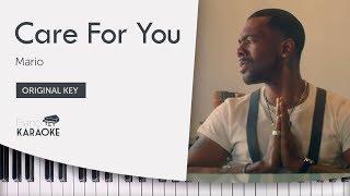 Care For You   Mario [Piano Karaoke Backing Track] (Original Key)