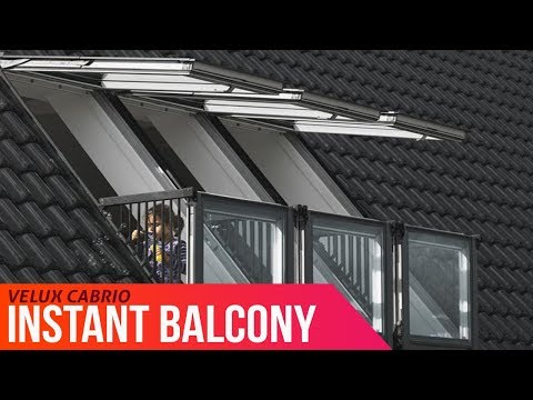 Enjoy a balcony instantly – VELUX CABRIO® goes from roof window to balcony in seconds