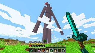 Fighting SIRENHEAD in Minecraft!