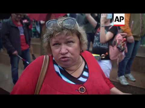 Russian protest Putin's pension reforms