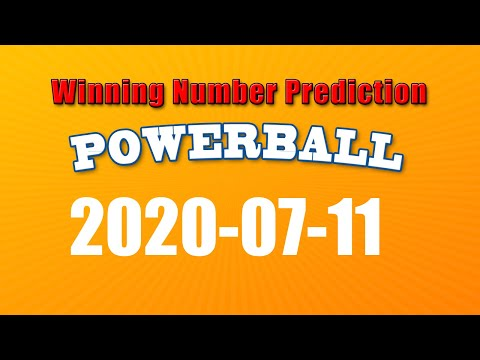 Winning numbers prediction for 2020-07-11|U.S. Powerball