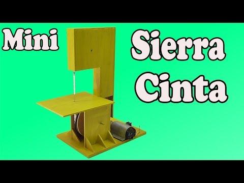 Cómo Hacer Una Mini Sierra Cinta Casera (Muy fácil de hacer)