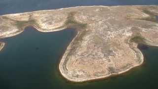 LCRA aerial video of Lake Travis shows drought effects in Central Texas, Jan. 13, 2014