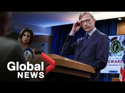 Brian Hook holds briefing on Iran at U.S. State Dept.