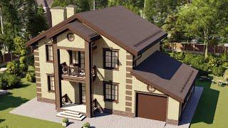 Проект дома 194-A, Площадь дома: 194 м2, Размер дома:  15x10,5 м