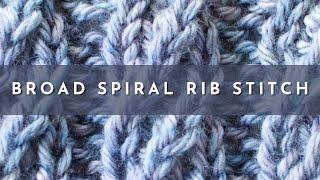 The Broad Spiral Cable Rib #Knitting Stitch Pattern