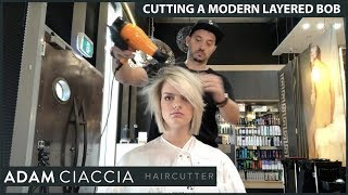 How To Cut A Modern Layered Bob - With Adam Ciaccia