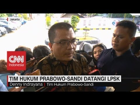 Tim Hukum Prabowo-Sandi Datangi LPSK
