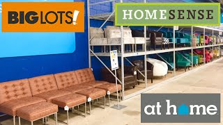 BIG LOTS HOME SENSE AT HOME FURNITURE SOFAS ARMCHAIRS SHOP WITH ME SHOPPING STORE WALK THROUGH