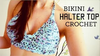 Bikini / Halter Top A Crochet (ENGLISH SUBTITLES!) Paso A Paso - Parte 1 De 2