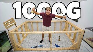Building 1000G POND INSIDE My FISH ROOM!!