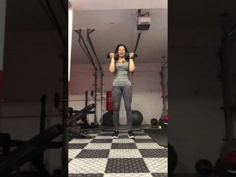 Dumbbell 1 and a half Curls