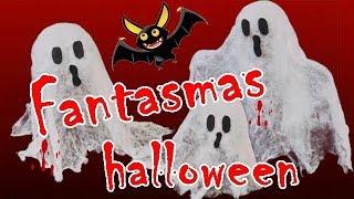 Cómo hacer Fantasmas para Halloween de gasa. Día de los muertos. Ghost