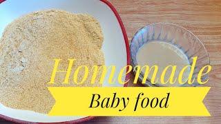 സംശുദ്ധമായ ബേബി ഫുഡ് പൗഡർ വീട്ടിൽ ഉണ്ടാക്കാം // Homemade Baby Food Powder Without Sugar And Milk