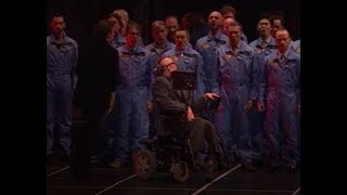 R.I.P.  Stephen Hawking, memorialized in the Paris Opera's Damnation of Faust 2015