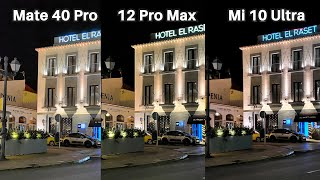 Xiaomi Mi 10 Ultra Vs Huawei Mate 40 Pro Vs iPhone 12 Pro Max Camera Comparison