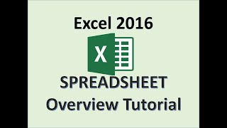Excel 2016 - Spreadsheets - Describe a Worksheet - How To Use MS Spreadsheet Tutorial For Beginners