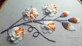 Hand Embroidery Beautiful White Brazilian Embroidery | Hand Embroidery White Work  Embroidery Design