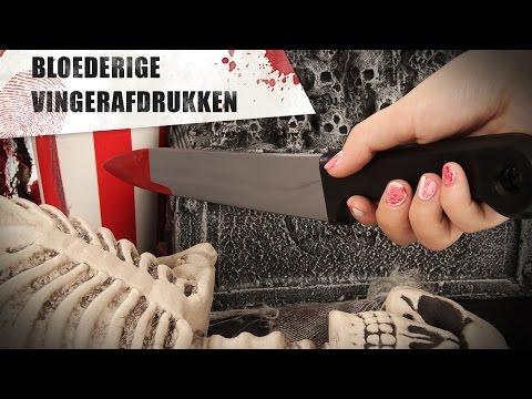 Nail Art voor Halloween: bloederige vingerprint