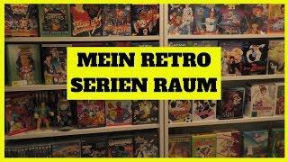 Room Tour 2019  | Meine Zeichentrickserien 90er 80er und TV Serien 90er 80er | Retro TV Serien