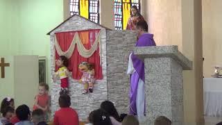 Aclamação, Evangelho e Homilia - Missa do 1º Domingo da Quaresma (Catequese) (10.03.2019)