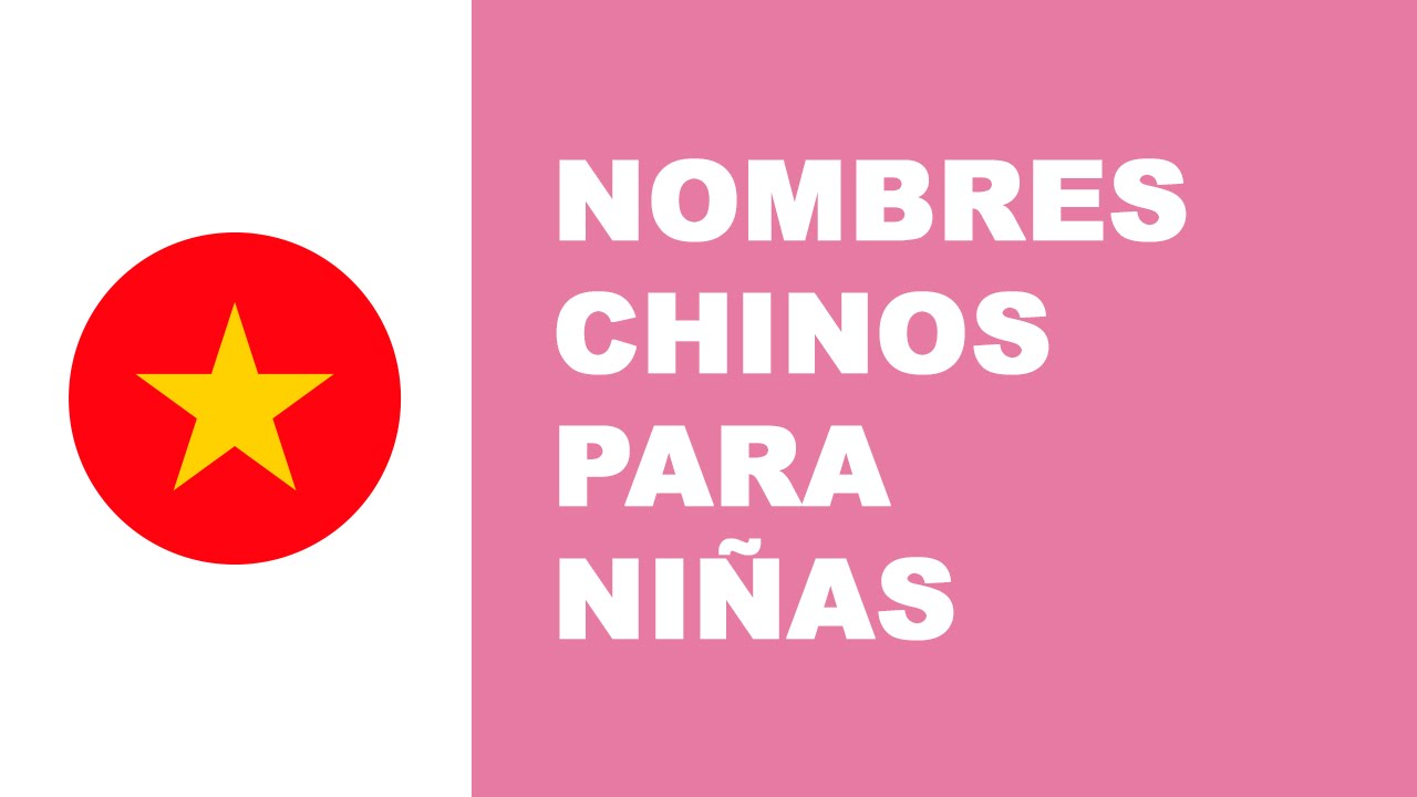 Nombres chinos para niñas