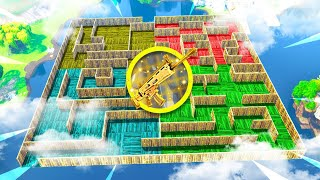 FORTNITE BATTLE ROYALE *NEW* LEGENDARY GUN MAZE!