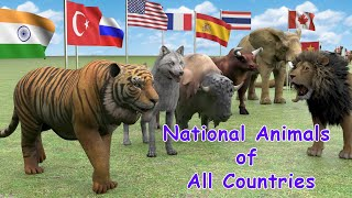 National Animals of Countries   Flags and Countries name With National Animal