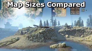Battleroyale Map Sizes Compared - CS:GO's Blacksite