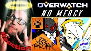 """""""No Mercy"""" Overwatch Song by The Living Tombstone (ft. BlackGryphon & LittleJayneyCakes) REACTION!"""