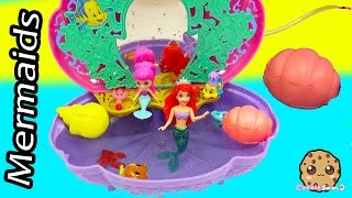 Splashlings Unboxing with 2 Surprises Play with The Little Mermaid Ariel In Shell Pool